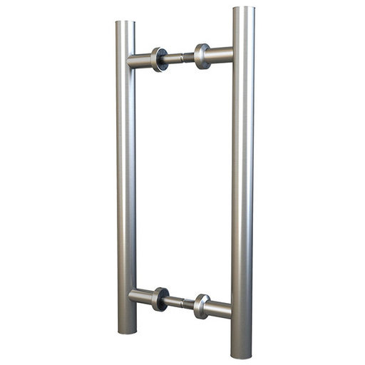 "View a Larger Image of  Stainless Steel 15-3/4"" Double Sided Pull for Wood or Glass Doors"