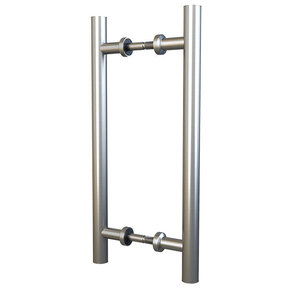 "Stainless Steel 15-3/4"" Double Sided Pull for Wood or Glass Doors"
