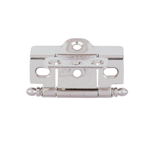 View a Larger Image of Nickel Cabinet Hinge, Full Wrap