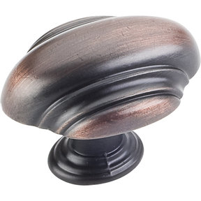 "Amsden Knob, 1-7/16"" O.L., Brushed Oil Rubbed Bronze"