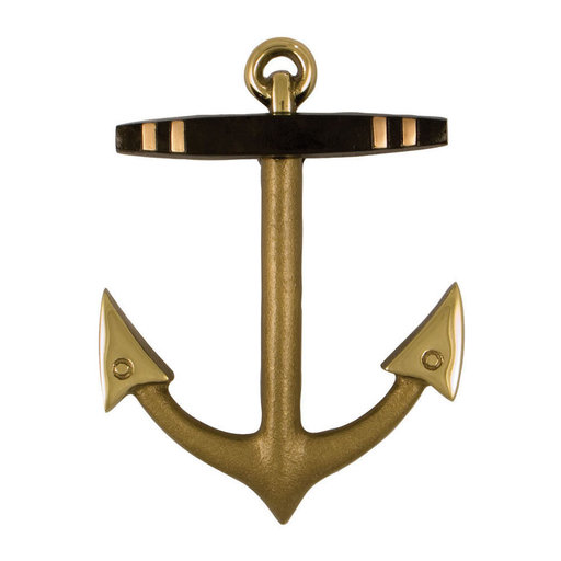 View a Larger Image of Anchor Door Knocker - Brass