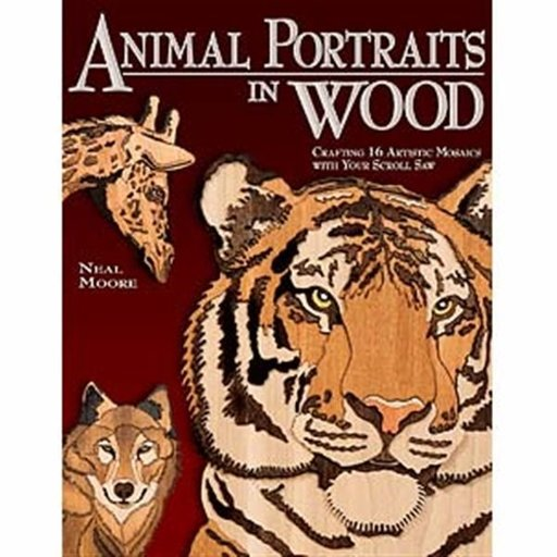 View a Larger Image of Animal Portraits in Wood: Crafting 16 Artistic Mosaics with Your Scroll Saw
