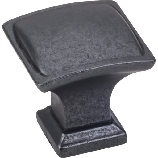 "View a Larger Image of Annadale Square Pillow Top Knob, 1-1/4"" O.L., Gun Metal"