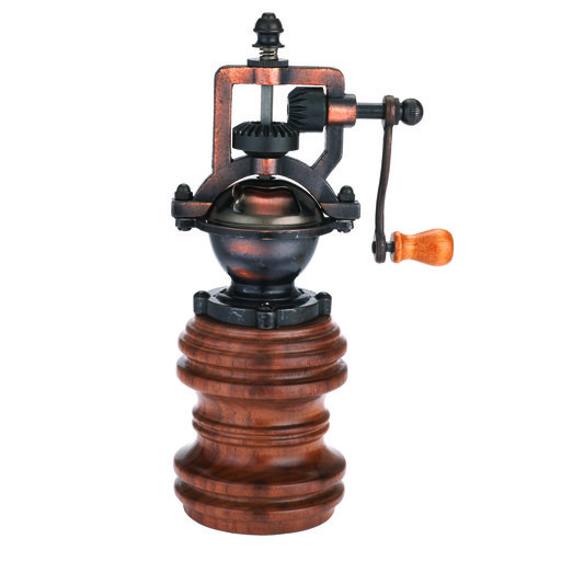 View a Larger Image of Antique Style Hand Crank Pepper Grinder Kit Mechanism - Antique Copper