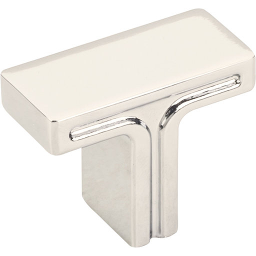 "View a Larger Image of Anwick Rectangle Knob, 1-3/8"" O.L., Polished Nickel"