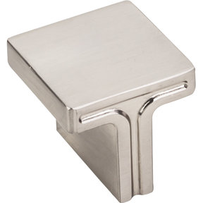 "Anwick Square Knob, 1-1/8"" O.L., Satin Nickel"