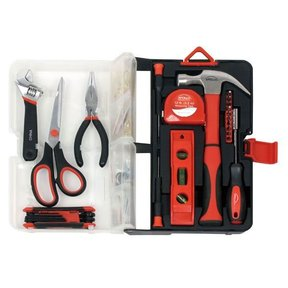 126 piece Kitchen Drawer Tool Kit, Red