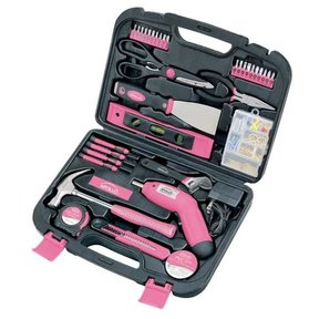 135 pc. Household Tool Kit Pink, Model DT0773N1