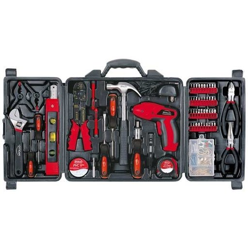 View a Larger Image of 161 pc. Household Tool Kit with Rechargeable Screwdriver, Model DT0738