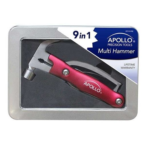 View a Larger Image of 9-in-1 Multi Hammer, Red
