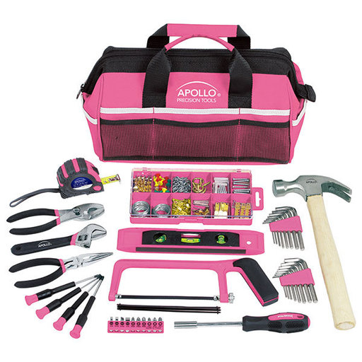 View a Larger Image of Household Tool Kit, Pink, 201 pieces, Model DT0020P