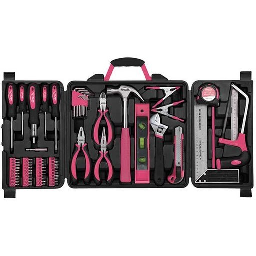 View a Larger Image of Household Tool Kit, Pink, 71 pieces, Model DT0204P