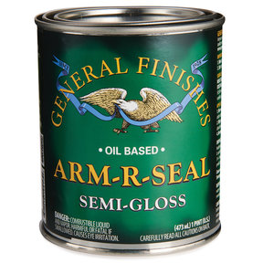 Arm R Seal Top Coat, Semi-Gloss, Pint