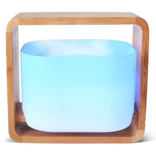 View a Larger Image of Aromatherapy 100% Wooden Bamboo and Glass Essential Oil Diffuser, Color-Changing, 1200 ml Capacity