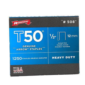 "Arrow T50 1/2"" Staples"