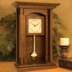 Arts and Crafts Pendulum Clock - Downloadable Plan