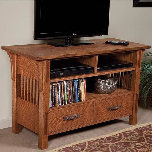 View a Larger Image of Arts & Crafts TV Stand Downloadable Plan