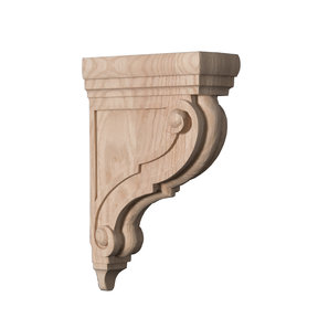 Athens Bar Corbel Red Oak