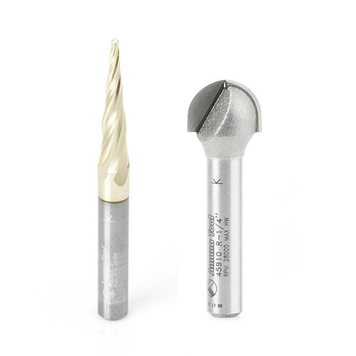 View a Larger Image of  2-piece Carving Bit Set (Iconic) by Amana Tool