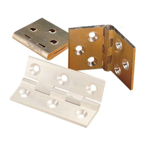 "View a Larger Image of Back Flap Hinge, Brushed Satin Finish 1-1/4"" x 1-15/16"", Pair"