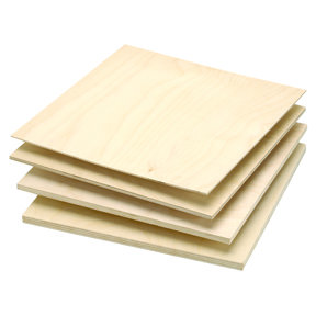 "Baltic Birch Plywood 3mm-1/8"" x 12"" x 12"""
