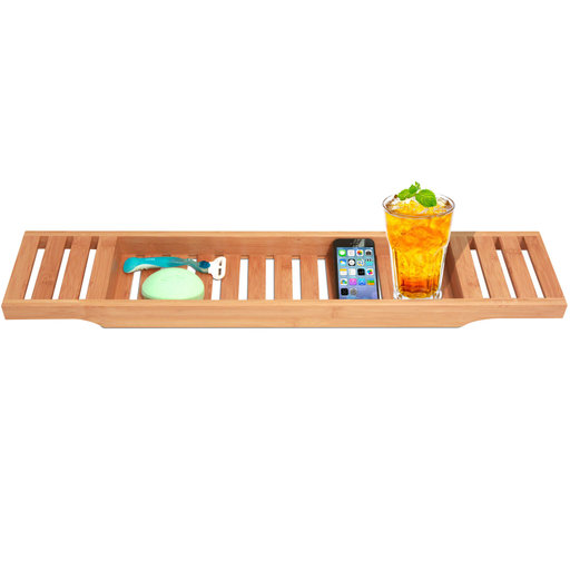 View a Larger Image of Bamboo Bathtub Caddy - Large