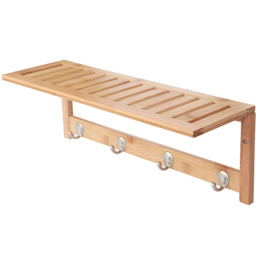 View a Larger Image of Bamboo Wall Shelf