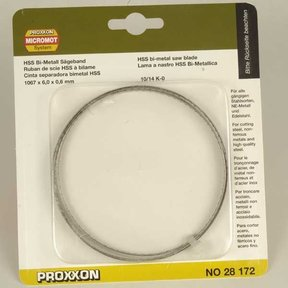 Band Saw Blade for Proxxon MBS 115/E, Bimetallic 10/14 tpi