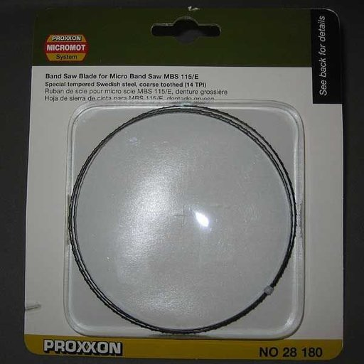 View a Larger Image of Band Saw Blade for Proxxon MBS 115/E, Special Tempered, Coarse, 14 TPI