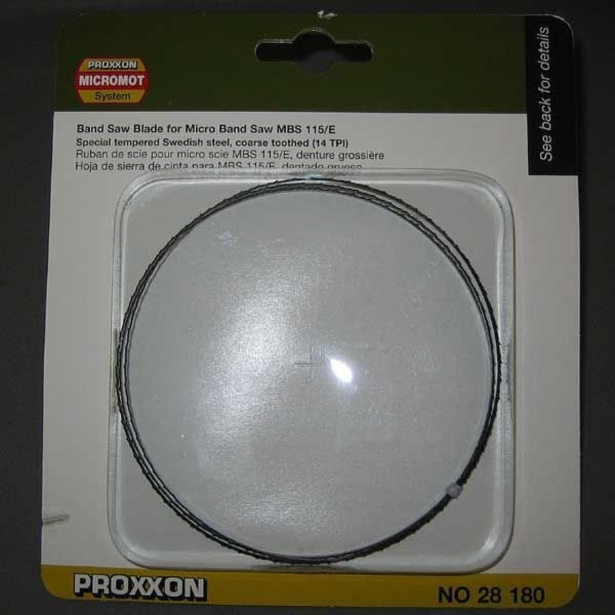 14 TPI coarse Proxxon 28180 Band saw blade for MBS//E special tempered