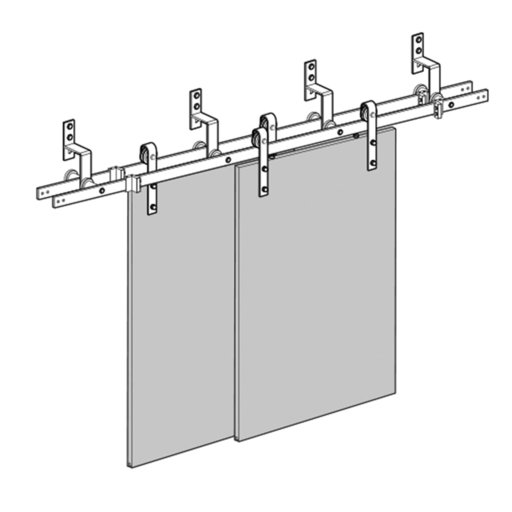 View a Larger Image of Barn Door Bypass Bracket