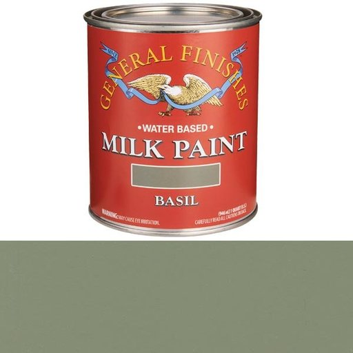 View a Larger Image of Basil Milk Paint Water Based Quart