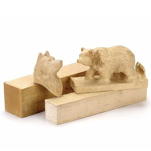 """View a Larger Image of Basswood  3"""" x 6"""" x 18"""" Wood Carving Stock"""