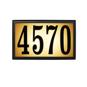 Bayside Estate Lighted Address Plaque in Black Frame Color