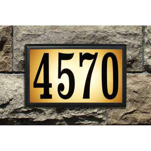 View a Larger Image of Bayside Estate Lighted Address Plaque in Black Frame Color