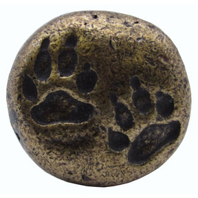 Bear Tracks Round Knob, Brass Oxide