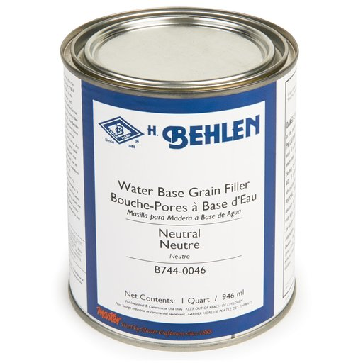 View a Larger Image of Water-Based Grain Filler, Neutral Quart