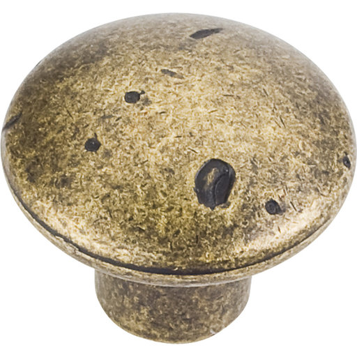 "View a Larger Image of Belcastel 2 Knob, 1-1/4"" Dia.,  Distressed Antique Brass"