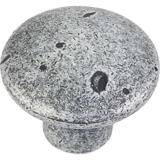 "View a Larger Image of Belcastel 2 Knob, 1-1/4"" Dia.,  Distressed Antique Silver"