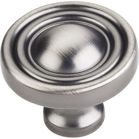 "Bella Round Knob, 1-3/8"" Dia.,  Brushed Pewter"