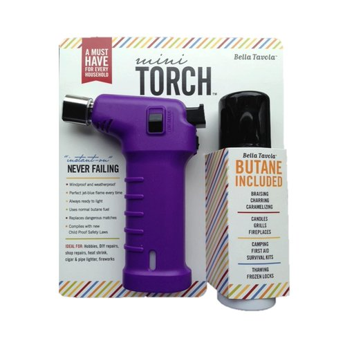 View a Larger Image of Bella Tavola Mini Torch Combo - Purple
