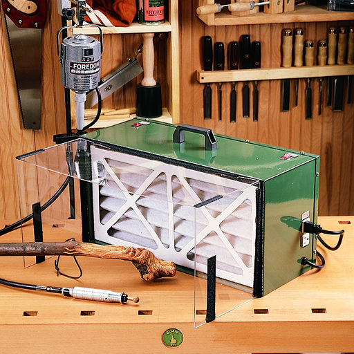 View a Larger Image of Benchtop Power Carving Dust Collector