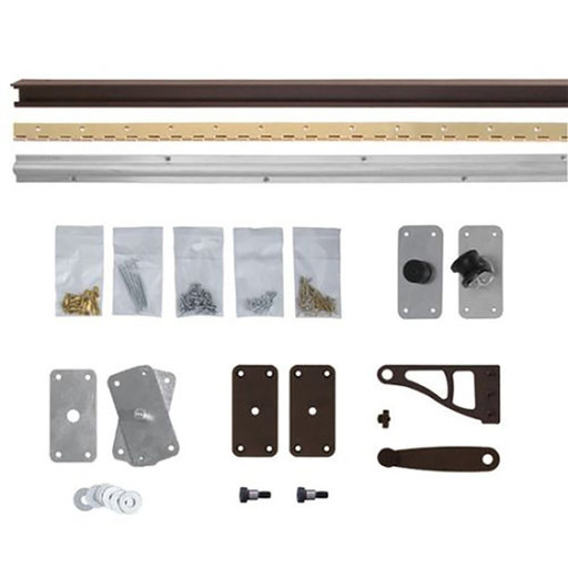 View a Larger Image of Bi-Fold Bookcase Door Without Valance Hardware Kit