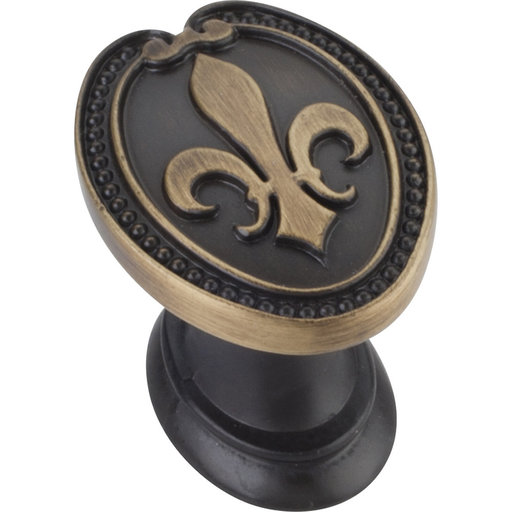 "View a Larger Image of Bienville KNob, 1-5/16"" O.L., Antique Brushed Satin Brass"