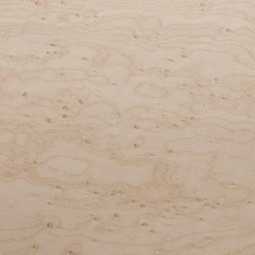 View a Larger Image of Birdseye Maple Veneer Sheet Medium Figure 4' x 8' 2-Ply Wood on Wood