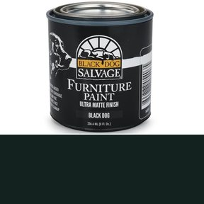 Black Dog - Black Furniture Paint, 1/2 Pint 236.6ml (8 fl. Oz.)