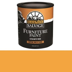 'Caution: Dogs at Work' - Orange Furniture Paint, Quart 946ml (32 fl. oz.)