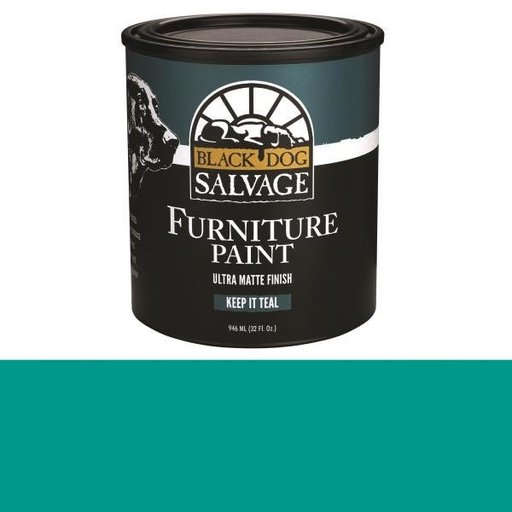 View a Larger Image of 'Keep It Teal' - Teal Furniture Paint, Quart 946ml (32 fl. oz.)