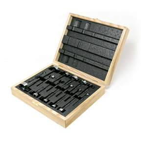 Black Shark Forstner Bit 16 Pcs Set, Imperial and Metric, In Wooden Box