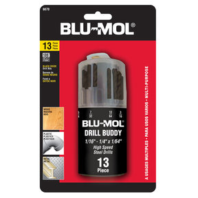 Blu-Mol 13-Piece Black Oxide HSS Drill Bit Set
